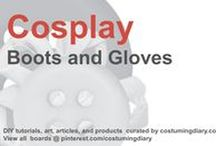 Cosplay DIY Tutorials Boots Gloves / by costumingdiary.com