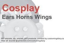 Cosplay DIY Tutorials Ears Horns Wings / by costumingdiary.com