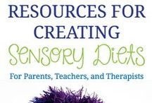 "SPD - Sensory Diet / A sensory diet is a family centered approach of providing sensory integrative therapy to meet the needs of a specific child and family. Sensory diets are not food diets, although food may be used in them. Sensory diets are activities that we use to help us feel calm, alert, and in an ""optimal"" state of arousal."