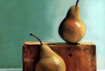 Still Life Paintings of Pears