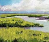 30 paintings in 30 days landscape paintings / salt marshes / small landscape pastel paintings / $50 a piece