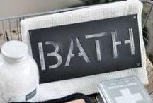 BATHROOM STYLE | Words in bathroom!