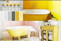 BLOG | BATHROOM PALETTE / A selection of images of bathrooms created depending on colour shades