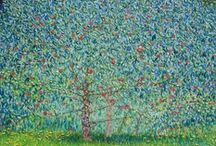 BLUE/GREEN happy paintings