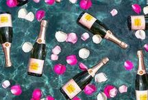 "Champagne Is Always The Answer / Gearing up for the Veuve Clicquot Polo Classic and sharing some ""pin-spiration""! Wolfgang Puck Catering will be serving some of our favorite dishes in the Rosé Garden!"