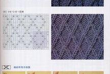 knitting patterns / diagrams