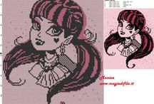Cross stitch patterns english site / The free patterns from english site.