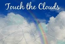 "Touch the Clouds App / What do we see in the clouds? My inspiration for my ebook ""So Sorry I'm Tardy."" The clouds and I wrote this story."