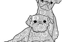A-COLORING BOOK PAGES / Coloring books + cool dogs = BLISS!