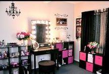 MAKE-UP  / Beauty tips. Make up tips. Organization for make up and nail polish. #beauty #tips #diy #makeup #organize #bathroom #vanity  / by M B
