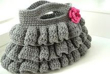 Crochet, knitting Handbags, Torebki