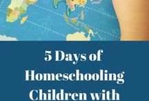Homeschooling Children With Special Needs / Information and encouragement about homeschooling our children with special needs. Adhd, Autism, Anxiety Disorder, Chronic Illness