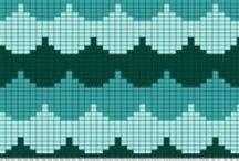 strikkemønster, knitting charts / diagrammer til strikkemønstre og figurer