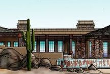 Saguaro Forest Design / Design for lot 149 Desert Mountain Saguaro Forest The lot is currently on the MLSDetails: 1st Floor livable: 4,155 SQ FT 2nd Floor livable: 585 SQ FT Total livable: 4,740 SQ FT Under roof area: 8,789 SQ FT 3 Bedroom suites 5 Bathrooms Dimensions: 157′W x 90′D This unique two story custom home plan blurs the line of inside and outside space. Waterfalls, boulders, natural stone, arches, and variety of ceiling treatments define the intimate spaces. The rooms include a great room, kitchen, breakfast nook, and Study with private patio. The master suite includes a fireplace, large bathroom and a large closet. There are also 2 guest suites, a lot of covered patio space and a two car garage