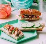 Sandwichs d'été / Summer sandwich / Idées de recettes pour de sandwichs frais, savoureux et estivals