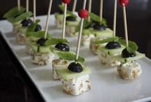 Morsels of Deliciousness. / Most are canapes made by me. Others I just fancy anyway