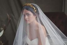 Veils, Headpieces, Hairstyles / Bridal veils, wedding hair, updos, braided hairstyles, chignon styles, buns, curls, flower crowns, tiaras, beaded headbands, jewels for the hair