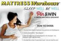 "Sleep Happens / Mattress Warehouse's ""Sleep Well, Be Well"" Pin & Win contest! Create your own Sleep Happens board and enter to win a brand new mattress set.  See contest and rules pins for details. / by Mattress Warehouse"