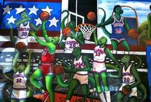 Iguana Murals / Our famous Iguana Wall Art!
