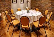 Restaurante El Portillo / Restaurante El Portillo, donde degustará una excelente gastronomía mediterránea y aragonesa, donde predominan los vinos del Somontano. www.ghbarbastro.com