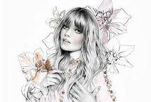 Fashion Illustration, Sketchbooks, Moodboards