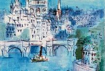 Raoul Dufy & Jean Dufy / Paintings from my favorite French fauvist artists, the Dufy brothers!