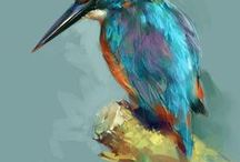 Birds - Art / Beautiful artwork, paintings and illustrations of birds.