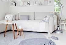 Creative Layering / Layering rugs can bring a creative edge to your room and add another dimension.