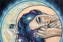 Moon - Art / Moon art, astrology, sky night and star paintings. Beautiful and mystical drawings and illustrations to uplift your soul and spirit!