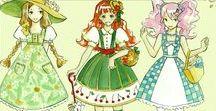 Lolita Illustrations / Guide de références pour voir le traitement du print, des fronces ou le dessin des headress.