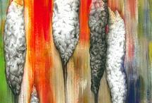 Il lupo e i sette capretti / Illustrazioni create da Ilaria Meli il testo è dei fratelli Grimm dipinto con tecnica mista, acrilico, micromina, e collage.