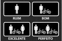 Frases + Humor + Arte + Bike / Artes usando Bicicletas como tema principal.