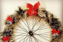Natal + Bicicletas / Decoração de Natal com o tema bicicleta ou que usa peças de bicicletas em sua composição