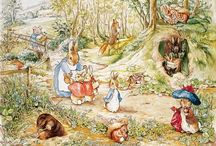 Beatrix Potter / The world of Beatrix Potter. Her pictures, her drawings, her books, everything. I saw the movie and I loved it. What a beautiful lady.