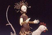 Art Dolls - Fabric and Mixed Media / Lurking unique art dolls...