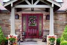 I want to live there! Curb Appeal, Front Doors, Landscaping / ideas of entryways, front yards, landscaping and more