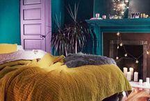 Cuddle Zone / Mustard, indigo & purple