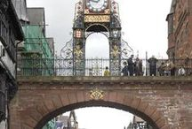 The Eastgate Clock in Chester / It is supposed to be the second most photographed clock in the UK, and so we are dedicating a board to collecting these photographs!  The Eastgate clock mechanism was made in 1897 by J. B. Joyce & Company who until 1974 supplied a technician to travel to Chester each week to wind it.  J B Joyce is now a part of the Smith of Derby Group in Derby.