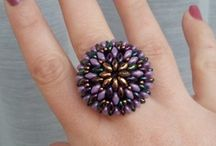 Beaded rings tutorials