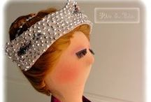 Bailarina / Bailarina composê em veludo e tule brilhante Linda para decoração