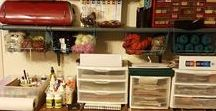 Organize the Craft Room / Organizing ideas and tips for the craft room.