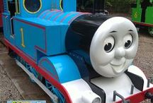 Thomas the Tank repaired / What a fun project! Drayton Manor, home of Thomas Land, used Plastic Surgeon's specialist repair service to mend scratches, scrapes and dents on Thomas, Henry, Rosie, Clarabel and the rest during their annual maintenance.