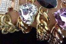 Colección MAXI-CHAINS / Pulseras y collares con eslabones en varios colores y maxi-pieza en swarosvki