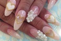 WEDDING DAY NAILS / BEAUTIFUL NAILS FOR YOUR WEDDING.  / by JANICE COOMES