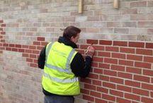 Brick tinting and brick repair / Brick tinting and damaged brick repair examples by Plastic Surgeon.