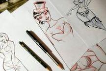 Sketch (Рисунки) / Черно-белые и цветные скетчи