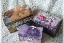 dřevěné krabičky - wooden boxes-my works / hobby-my works