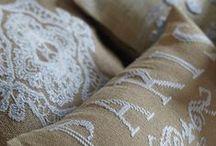 knitting, cross stich, sewing