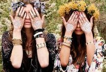 Boho Accessories / It really doesn't get better than layering on silver chains and turquoise stones.