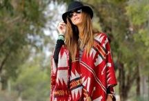 Trailblazers: Ponchos / Time to cozy up in your new favorite graphic print poncho: this season's best accessory!
